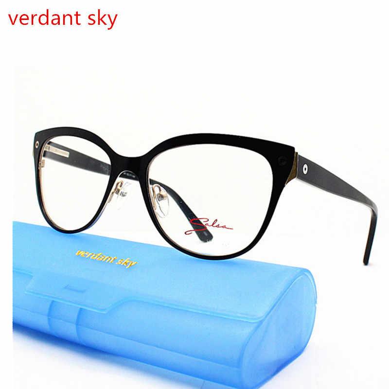 b7ade5f3237 ... 2018 cat eye Ladies Cat Eye Glasses Frames For Women Metal Brand  Designer Optical EyeGlasses Fashion