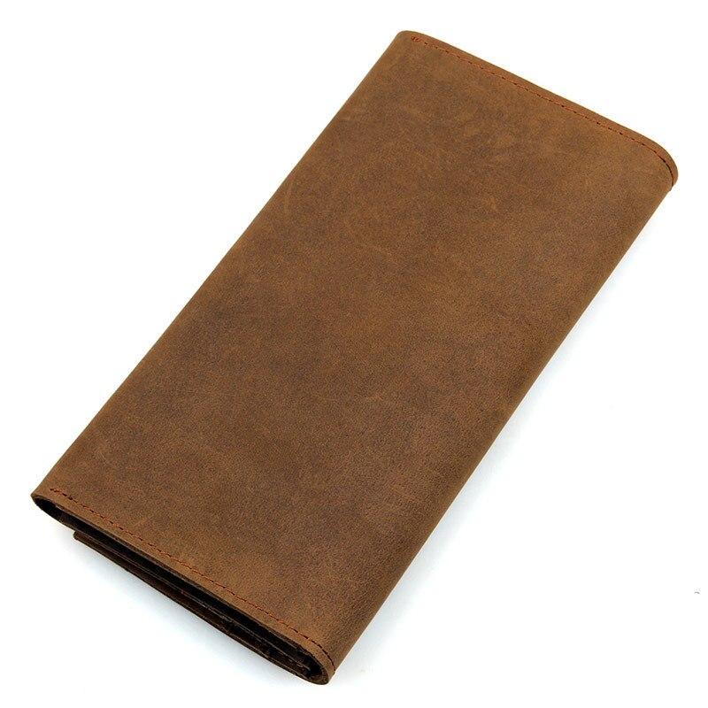 Men's Wallets Vintage Long Wallet Genuine Leather Wallets For  Men