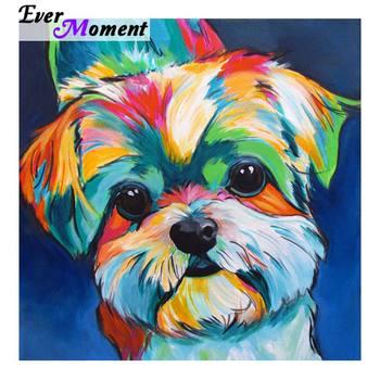Hiç An Elmas Boyama Köpek Renk 5d Yapay Elmas Resimleri Elmas Boyama