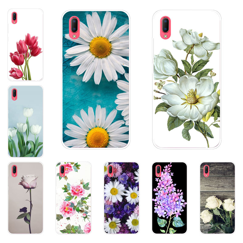 Vivo Y93 Case,Silicon chrysanthemum Painting Soft TPU Back Cover for Vivo Y93 Y9S Phone protect Bags shell