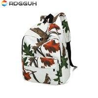 New Female Canvas Backpack Preppy Style Mochila Feminina 3D Printing Backpack Maple Leaf Trend Brand Shoulder