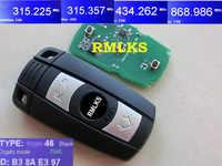 RMLKS Smart Remote Key FSK 315Mhz 433Mhz 868Mhz ASK315LP Mhz For BMW 1 3 5 Series X5 X6 CAS System Car Key Uncut HU92 Blade