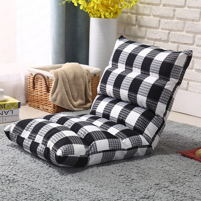New Lazy Couch Tatami Foldable Single Small Sofa Bed Computer Chair Dormitory Bay Window Japanese Style Lounge  Folding Bed