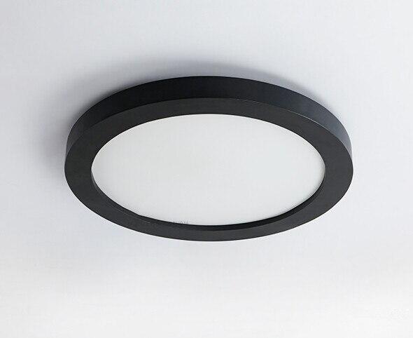 Led Plafondlamp Slaapkamer : Moderne en eenvoudige zwarte circulaire led plafondlamp creatieve