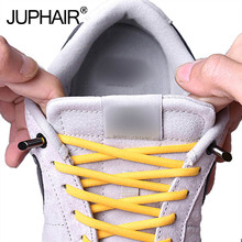 8 sets of shoes with metal closure new laceless elastic buckle anchor laces for children adult sneakers lace-up