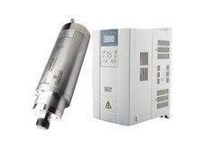 Water cooled 7.5kw D125mm ER25 900HZ AC220V/380V spindle motor & BEST VFD Frequency Inverter