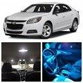 7 pcs Branco Gelo Azul LEVOU Luz Lâmpadas Para 2013-2015 Chevy Chevrolet Malibu Interior Package Kit Placa de Licença lâmpada Chevy-EF-07