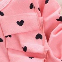 Spring Autumn Kids Baby Girls Heart-shaped Bow SweaterTops+ Pants  2PCS Outfits cotton Clothes
