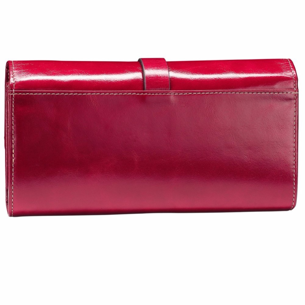 Ladies Designer Mucca Pelle Genuine Leather Wallet Women Quality Clutch Purse