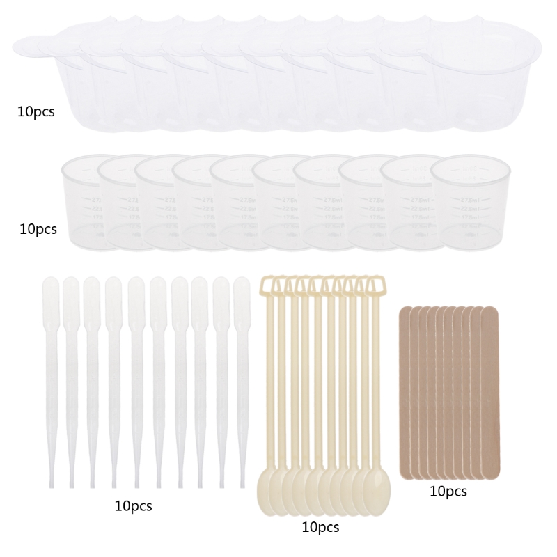 DIY Epoxy Resin Molds Jewelry Making Tool Kit With Stirrers Droppers Spoons Cups Jewelry Crafts Resin Molds