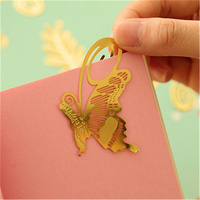 8pcs/lot Creative Vintage Retro Metal Cute Kawaii Bookmark Stationary Bookmark Office School Supplies