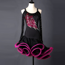Latin Competition Dance Dress Women 2017 New Arrival Professional Latin Dancing Costume Adult Rumba Latin Skirt цена в Москве и Питере