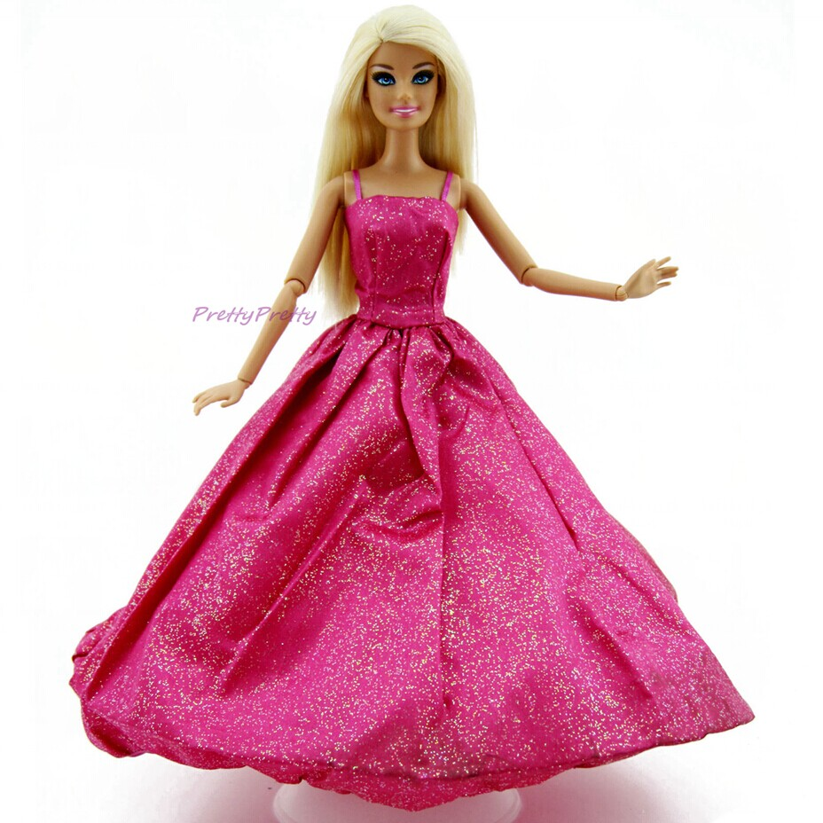 Barbie Toys For Girls : One piece beauty handmade princess dress wedding party