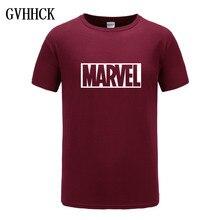 2018 nueva moda Marvel manga corta Camiseta Hombre superhéroe impresión Camiseta cuello redondo cómic Marvel camisetas tops hombres ropa Tee