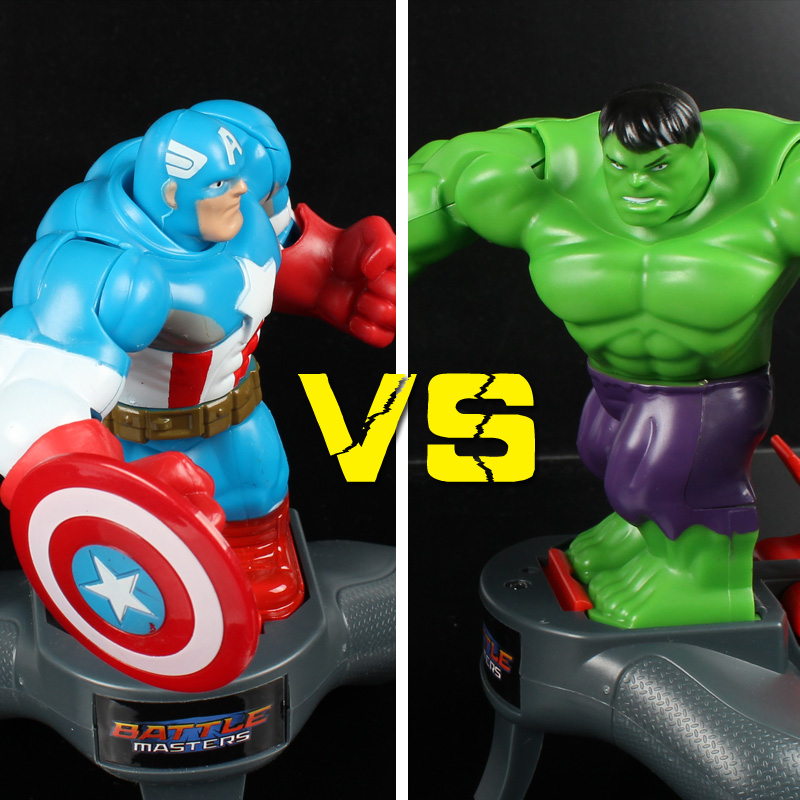 2017 Newest The Avengers Toys Movie Captain America Spider Man Iron Man Hulk Action Figure Toy Light Sound Rotate Gift