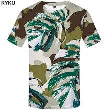 3d Tshirt Green Camo T-shirt Men Leaf Shirt Print Graffiti Anime Clothes Camouflage Printed Military Tshirts Casual