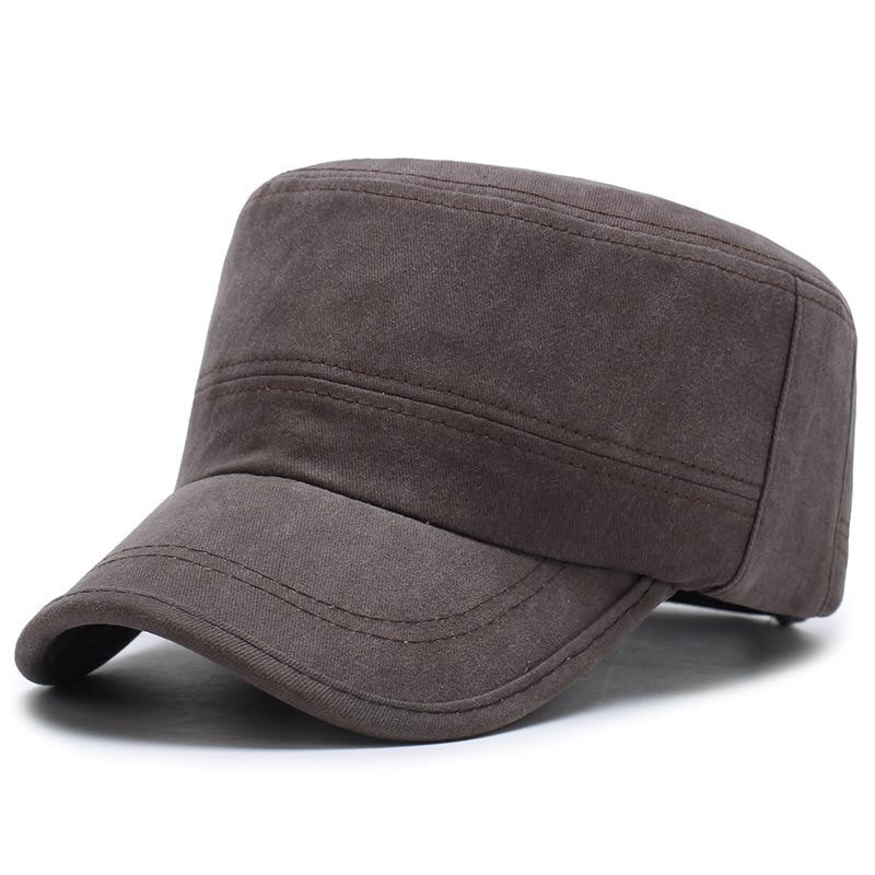 2017 nuevos hombres flat top hat retro lavado gorras gorra militar  ocasional tapa ajustable en Sombreros militares de Accesorios de ropa en  AliExpress.com ... e8258fc2f9c
