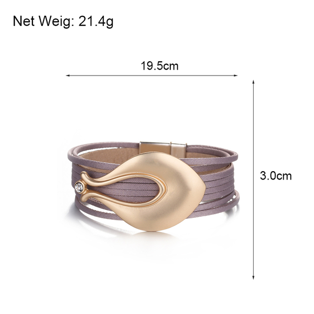 Boho Leather Bracelet Size Dimensions