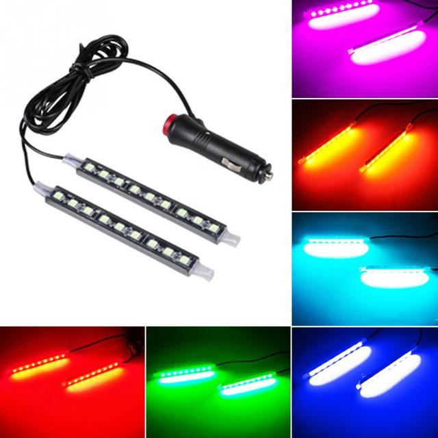 1 To 2 Universal Car LED Decoration Lamp DC12V Car Cigarette Lighter Type Auto Interior Atmosphere Lights