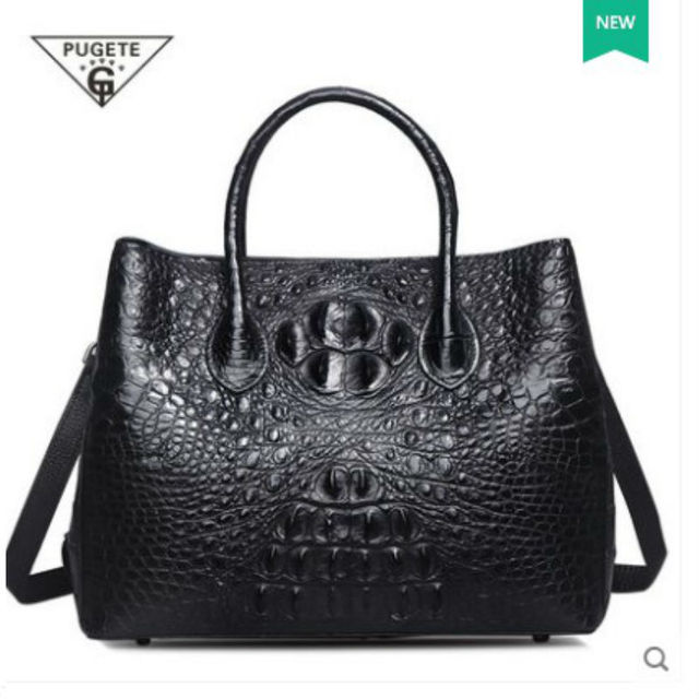 Pugete Special Models Really Crocodile Skin Leather Handbags Las Bag Women Fashion Single Shoulde