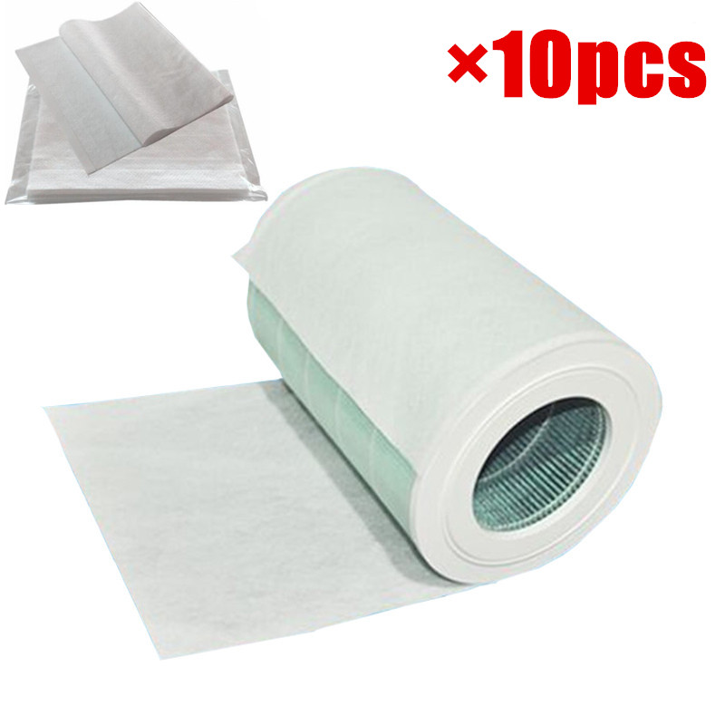10pcs 68x30cm electrostatic cotton for xiaomi mi air purifier pro / 1 / 2 universal brand air purifier filter Hepa filter xiaomi mi smart air purifier 2nd gen hepa home air cleaner app control