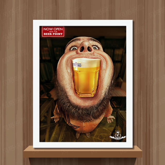 Extreem Grappig Bier Man Art Prints Poster Hippie Muur Foto Canvas #HV68