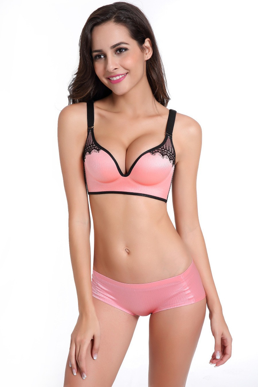 b50ef22b7de DeRuiLady New Women Sexy Bra Sets Seamless Bras BC Cup Size 32-40 Lingerie  Suit Bra Panties Women Underwear Push Up Bra Sets