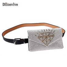 aed3e644c60ea DIINOVIVO Bling Diamond Waist Bag Women Luxury Designer Fanny Pack  Decorative Female Belt Bags Small Sequin