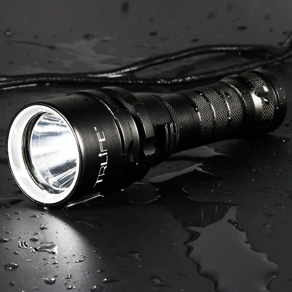Professionelle Tauchen Licht 200 Meter L2 Wasserdichte IPX8 Unterwasser LED Taschenlampe Tauchen Camping Lanterna Fackel durch 18650