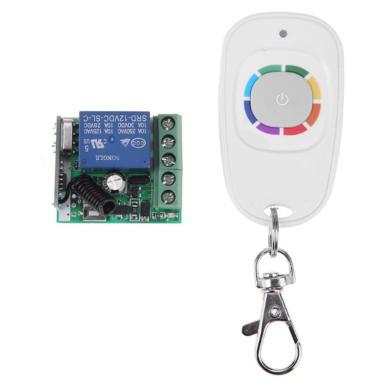 12V 1 Channel Relay Wireless Remote Control Switch Transmitter Receiver Module for garage door, lighting curtain control digital 12v 1 channel fixed code rf gate garage door 1 transmitter and 12 receiver remote control switch 4313