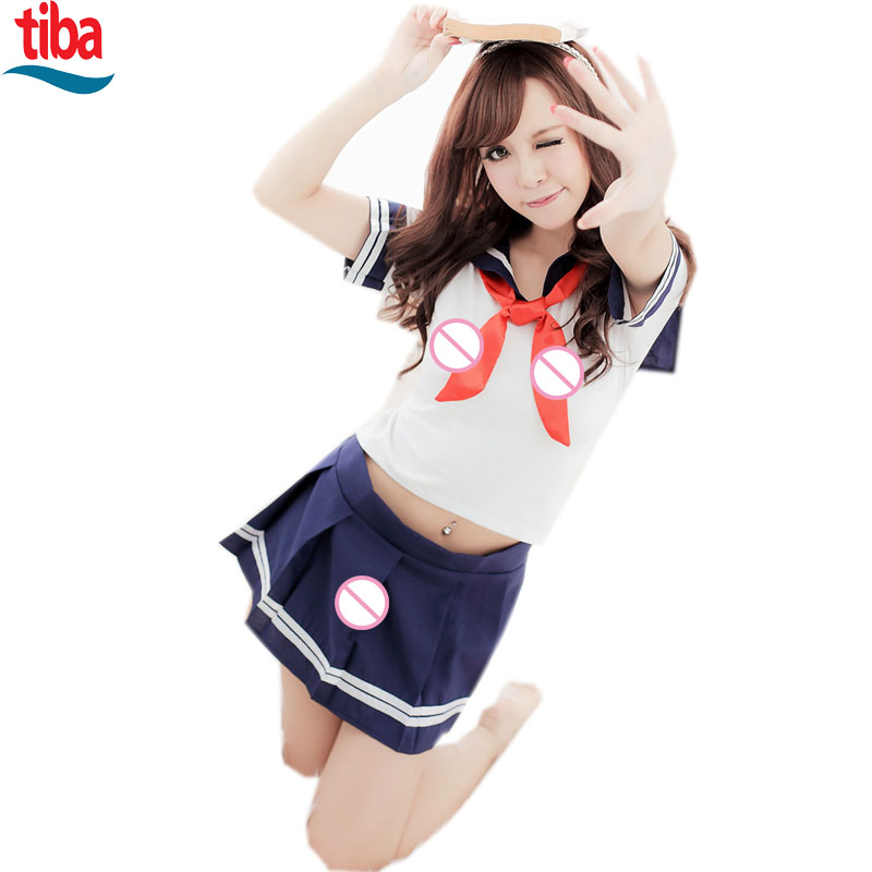 The Newest Sexy red Scarf Clothing Set Student Sexy Cosplay Games Costume Sexy Underwear Role Play Games suit