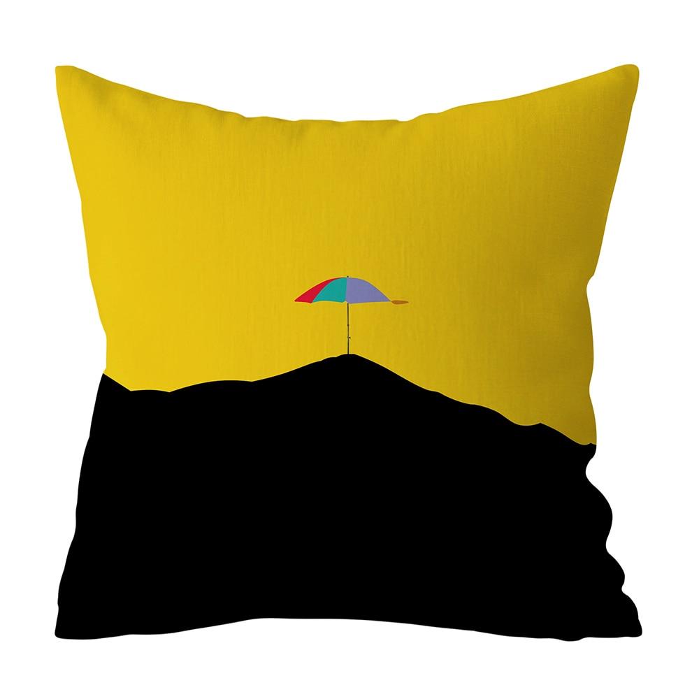 HTB13zYvXBGE3KVjSZFhq6AkaFXaS Polyester Geometric Cushion Yellow Pineapple Pillow Decorative Cushion for Sofa DIY Printed Pillow Seat Chair Cushion