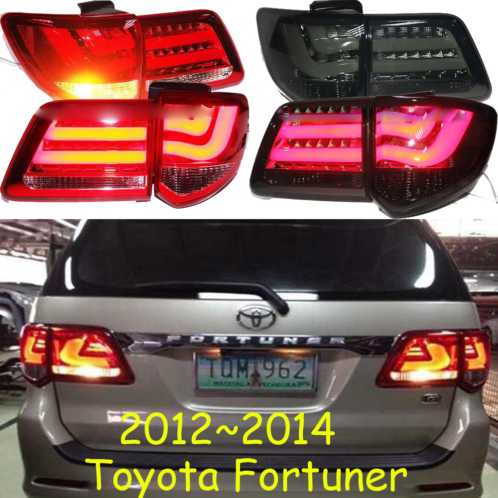 car-styling,Fortuner Taillight,2012~2014,led,Free ship!4pcs/set,Fortuner fog light;car-covers,Chrome,Fortuner tail lamp,Fortuner car styling golf6 taillight 2011 2013 led free ship 4pcs golf6 fog light car covers golf7 tail lamp touareg gol golf 6