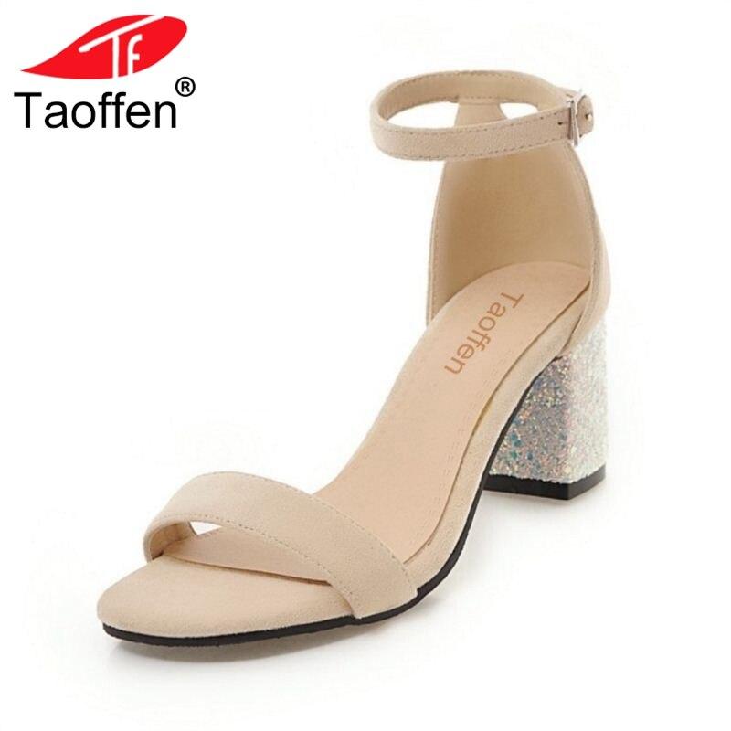 Calzado Corea Partido Tacón Bling 46 31 Alto Mujer Mujeres Verano Zapatos Correa Beige Taoffen Sandalias Abierto Tobillo De Toe negro Club Tamaño rosado Del xRwYU5qOp