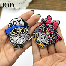 Children Cartoon Bird Embroidered Owl Iron on Patches for Clothes Stickers Fabric DIY Decorative Applique Patch Clothing Ironing