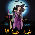 2017 New Halloween Costumes Girl Black Fly Witch Costume Dress and Hat Cap Party Cosplay Clothing for Kids Girl Children