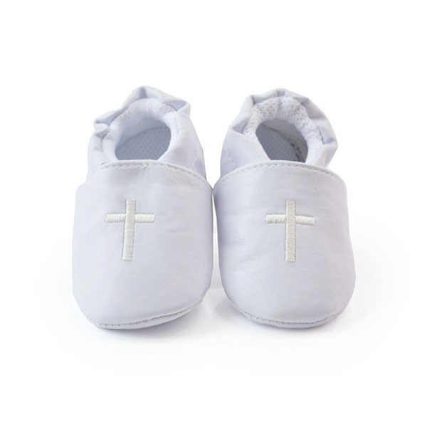 Stylish Boy Girls Baby Cross Baptism Crib Shoes Toddler Infant Soft Sole Prewalker First Walkers