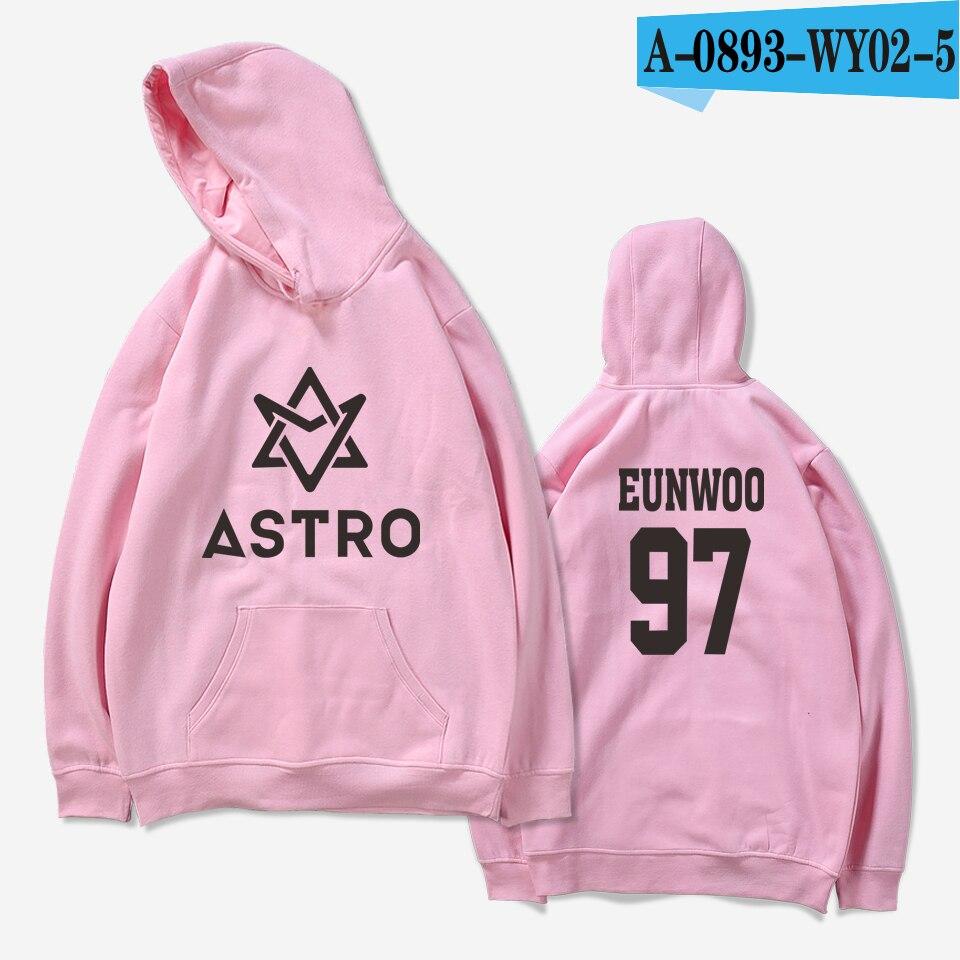LUCKYFRIDAYF 2018 ASTRO Kpop Hoodies Moletom STAR Group Spring Women/Men Harajuku Sweatshirt Casual Hoodie Men/Women Clothing 17