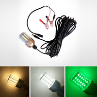 Newly 30W Fishing Lure Light LED Submersible Night Fishing Light for Sea Boat FMS19