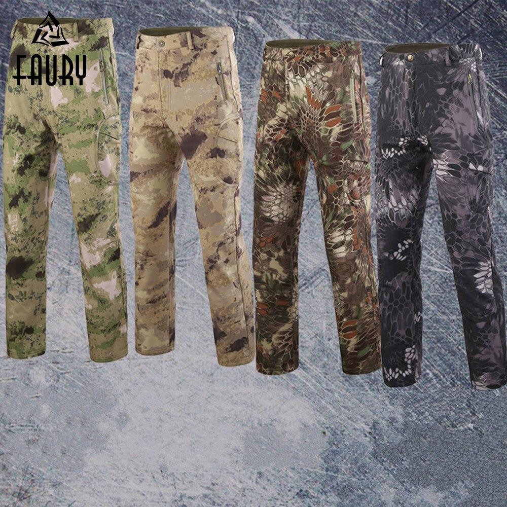 2019 Nuovo Stile Tactical Camouflage Pantaloni Militari Degli Uomini Soldato Combattimento Pantaloni Militar Army Lavoro Vestito Inverno Caldo Esercito Pantaloni Freddo A Prova Di Spruzzi Rendere Le Cose Convenienti Per Le Persone