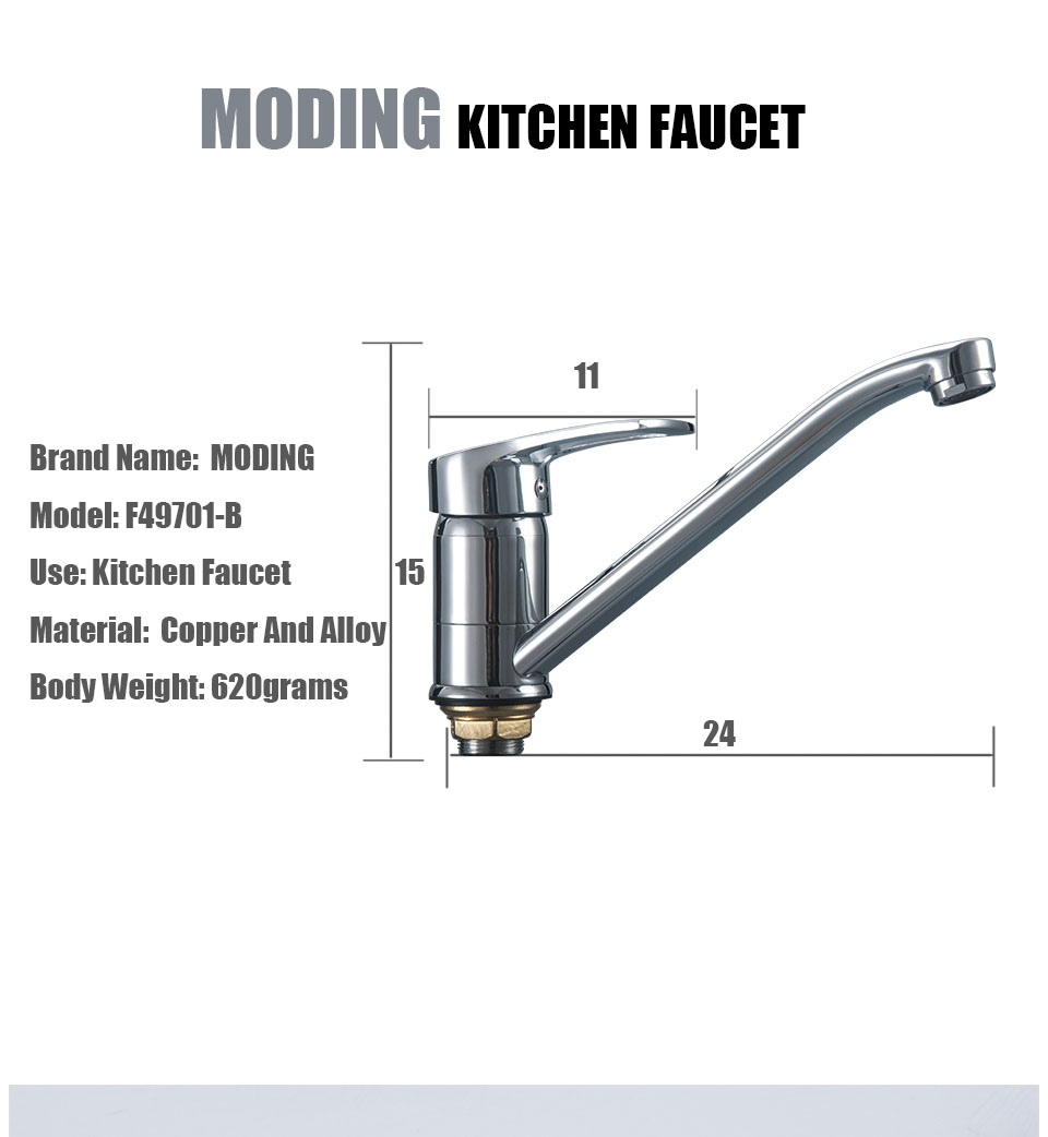 MODING Kitchen Water Mixer Hot And Cold Sink Mixer Water Tap Square ...