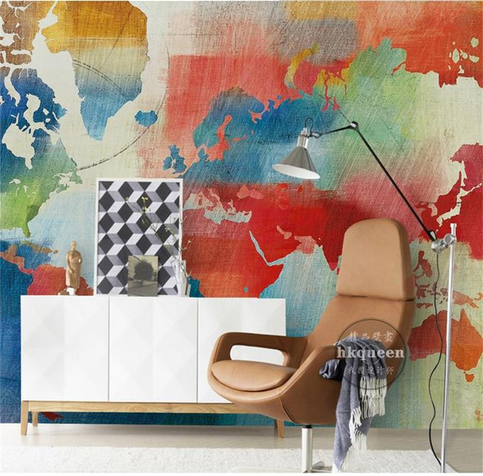 3d wallpaper custom murals photo wall paper sticker for living room Retro world map mural home decor wallpaper for wall 3d custom photo wallpaper high quality wallpaper personality style retro british letters large mural wall paper for living room