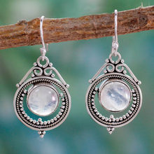 Women Vintage Jewelry Moonstone Earrings Dangle Hook Earring Gift(China)
