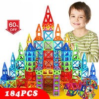 110 184pcs Mini Magnetic Designer Construction Set Plastic Constructor Magnetic Toy Educational Toys For Kids Christmas Gift