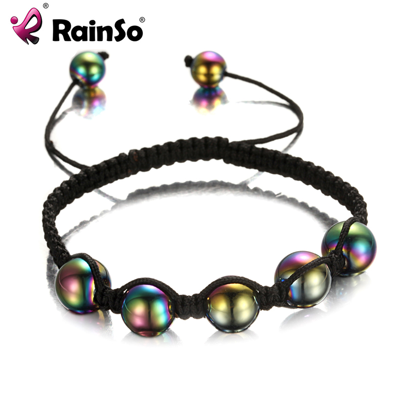 Hot Fashion Rainbow Men Women Beaded Bracelets Rope Hand Chain Trendy for Party Gift Hand Chain