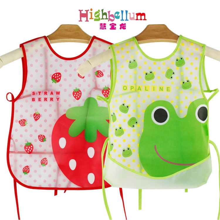 Baby Bibs Waterproof EVA Silicone Children Boy Girl Infants Burp Clothes Toddler Self Feeding CareWaterproof Drool