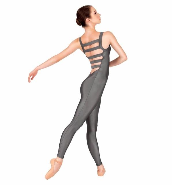 79706c9b8702 Nylon Adult Tank Unitard Elastic Ladder Back Women Ballet Dance Unitards  Gymnastics Dancewear Lycra Performance Stage Costume