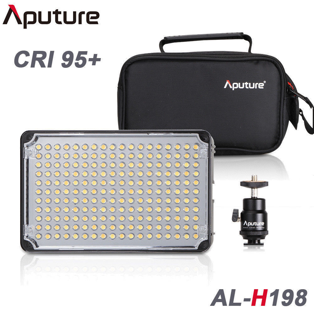 цена на Pro Aputure Amaran H198 CR95+ LED Video Light Camera Light For Canon Nikon Sony Lumix Pentax OLYMPUS DV Camcorder DSLR Camera