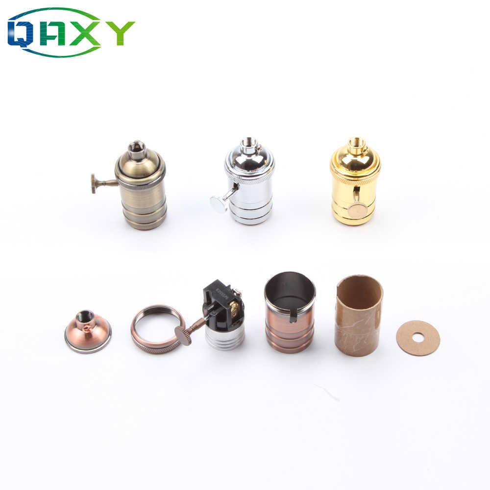 E27/E26 Classic Retro Edison Lamp Holder Socket Bulb Base Gold/Silver/Copper Light Sockets For Pendant Lamp Bedside Light[D5551]
