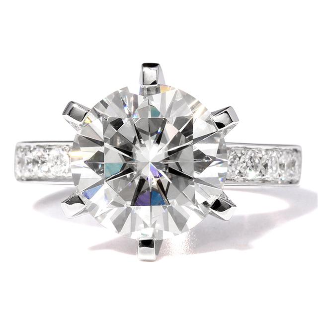14K 585 White Gold 10 Carat Lab Grown Diamond Engagement Wedding Ring